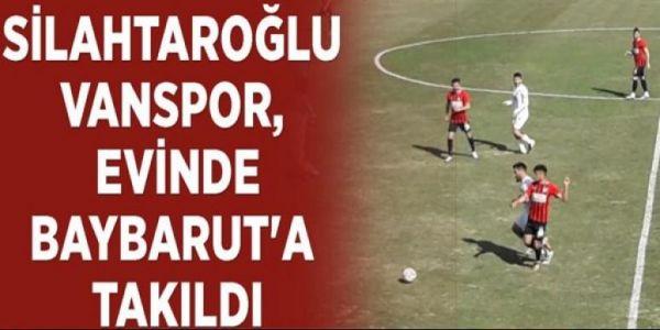 2. Lig: Vanspor FK: 1 - Bayburt Özel İdare Spor: 1
