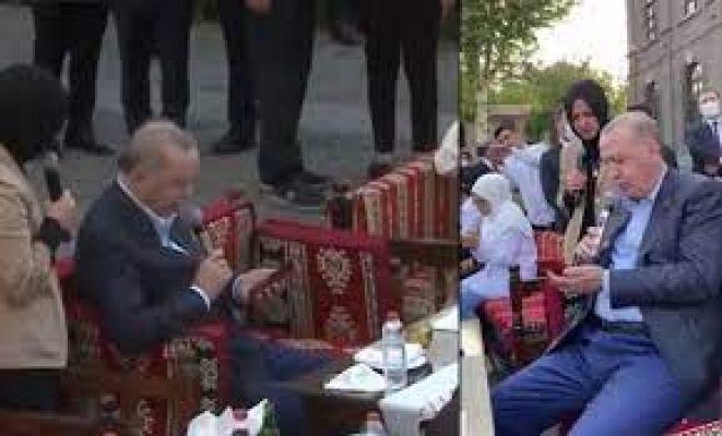 Cumhurbaşkanı ile Gülşen Orhan Diyarbakır'da türkü söyledi