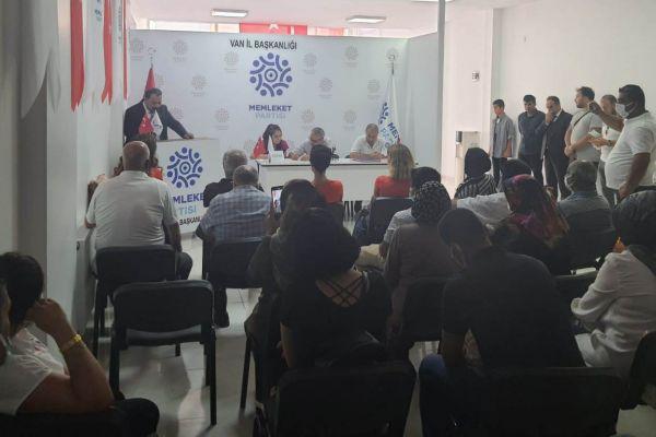 Memleket Partisi Van'da ilk kongresini gerçekleştirdi