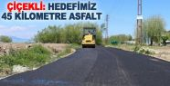 Çiçekli: Hedefimiz 45 kilometre asfalt