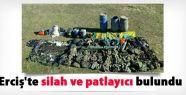 Erciş'te silah ve patlayıcı bulundu