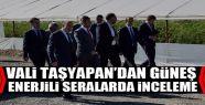 Vali Taşyapan'dan güneş enerjili seralarda...