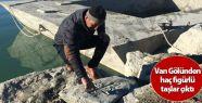 Van Gölünden haç figürlü taşlar çıktı