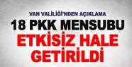 Van'da 10 günde 18 PKK'lı etkisiz hale...