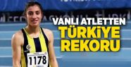 Vanlı atletten Türkiye rekoru