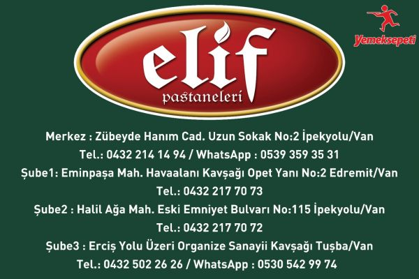 Van'da Elif Pastaneleri yenilenen yüzüyle hizmetine devam ediyor